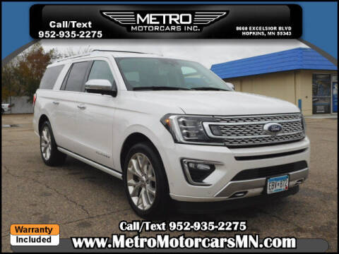 2019 Ford Expedition MAX for sale at Metro Motorcars Inc in Hopkins MN