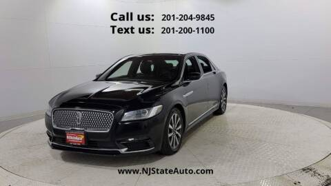 2018 Lincoln Continental for sale at NJ State Auto Used Cars in Jersey City NJ