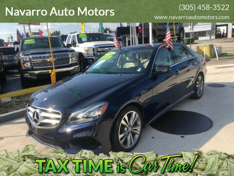 2016 Mercedes-Benz E-Class for sale at Navarro Auto Motors in Hialeah FL