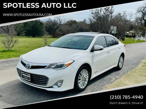 2014 Toyota Avalon Hybrid for sale at SPOTLESS AUTO LLC in San Antonio TX