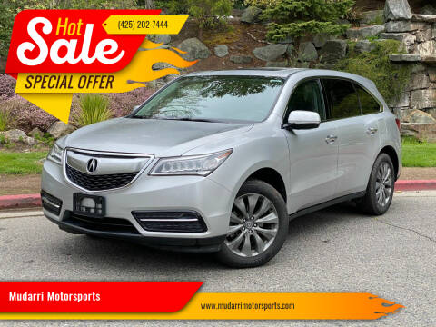 2014 Acura MDX for sale at Mudarri Motorsports in Kirkland WA