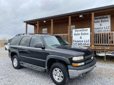 2004 Chevrolet Tahoe for sale at Vermilion Auto Sales & Finance in Erath LA