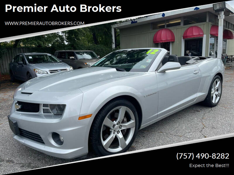 2012 Chevrolet Camaro for sale at Premier Auto Brokers in Virginia Beach VA