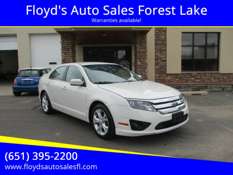 2012 Ford Fusion for sale at Floyd's Auto Sales Forest Lake in Forest Lake MN