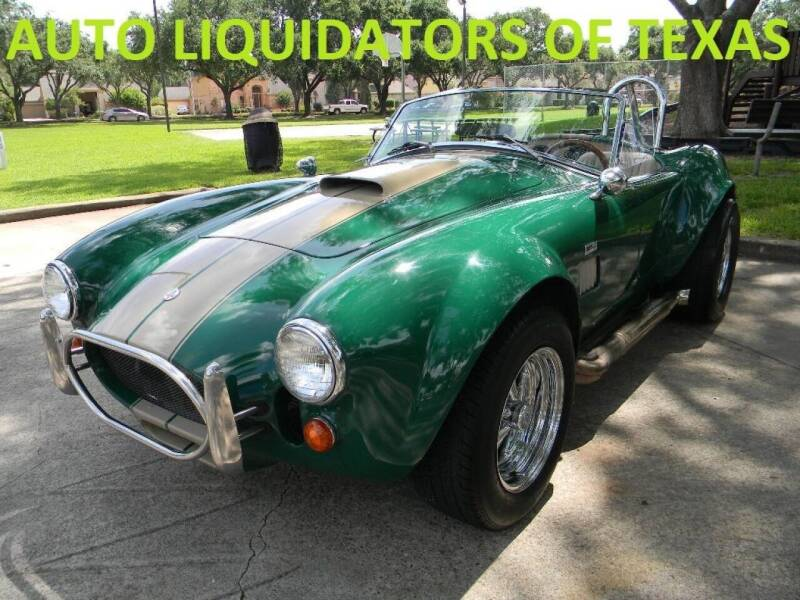 1965 Shelby Cobra for sale at AUTO LIQUIDATORS OF TEXAS in Richmond TX