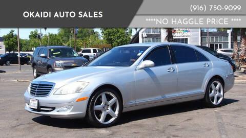2008 Mercedes-Benz S-Class for sale at Okaidi Auto Sales in Sacramento CA