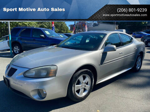 2008 Pontiac Grand Prix for sale at Sport Motive Auto Sales in Seattle WA