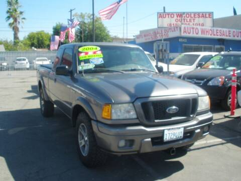 2004 Ford Ranger for sale at AUTO WHOLESALE OUTLET in North Hollywood CA