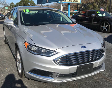 2018 Ford Fusion for sale at Dad's Auto Sales in Newport News VA