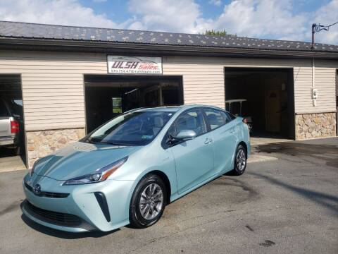 2020 Toyota Prius for sale at Ulsh Auto Sales Inc. in Summit Station PA