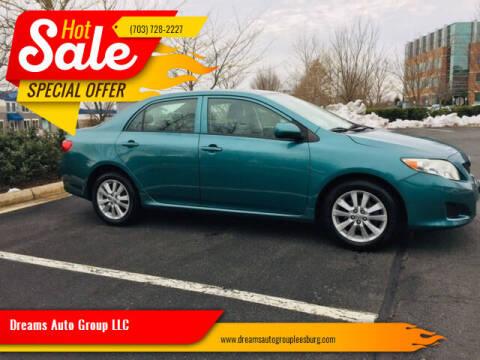 2010 Toyota Corolla for sale at Dreams Auto Sales LLC in Leesburg VA