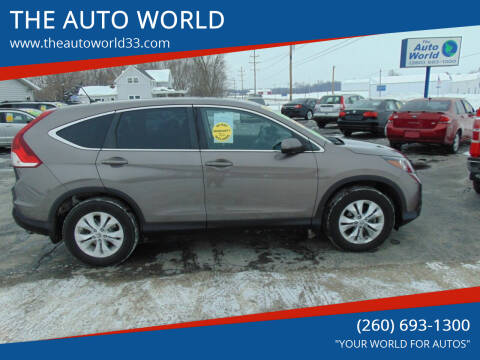 2014 Honda CR-V for sale at THE AUTO WORLD in Churubusco IN