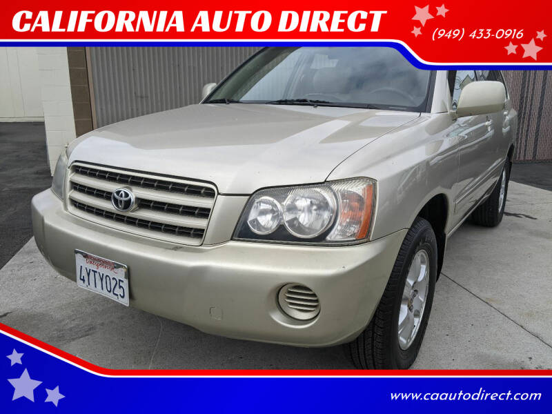 2002 Toyota Highlander for sale at CALIFORNIA AUTO DIRECT in Costa Mesa CA
