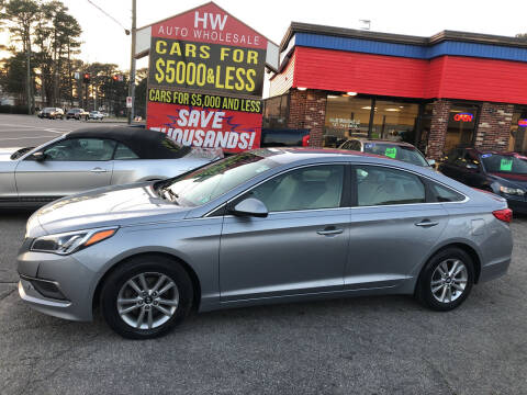 2016 Hyundai Sonata for sale at HW Auto Wholesale in Norfolk VA