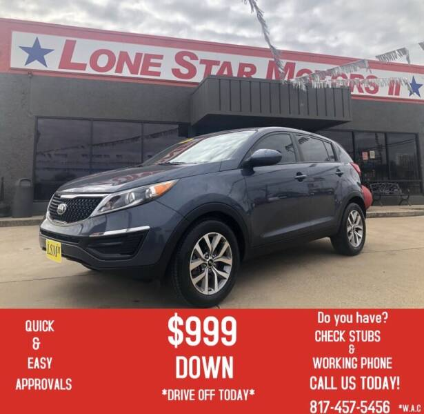 2016 Kia Sportage for sale at LONE STAR MOTORS II in Fort Worth TX