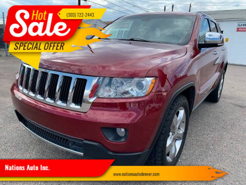 2013 Jeep Grand Cherokee for sale at Nations Auto Inc. in Denver CO