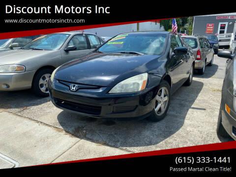 2005 Honda Accord for sale at Discount Motors Inc in Nashville TN