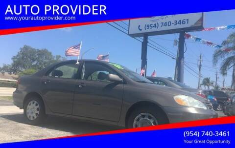 2003 Toyota Corolla for sale at AUTO PROVIDER in Fort Lauderdale FL