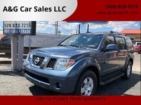 2006 Nissan Pathfinder for sale at A&G Car Sales  LLC in Tucson AZ