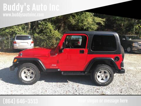 2006 Jeep Wrangler for sale at Buddy's Auto Inc in Pendleton SC