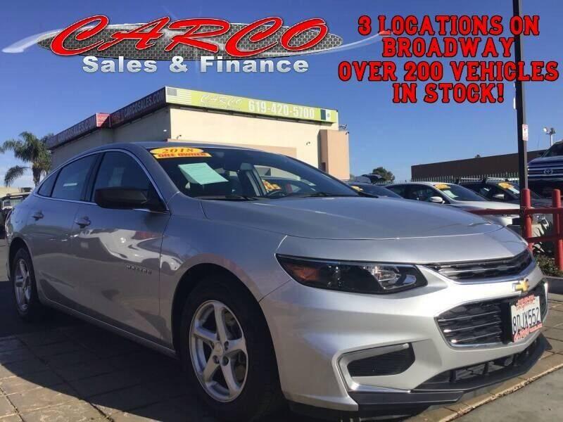 2018 Chevrolet Malibu for sale at CARCO SALES & FINANCE in Chula Vista CA
