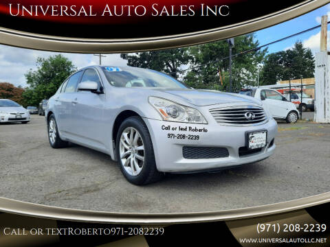 2007 Infiniti G35 for sale at Universal Auto Sales Inc in Salem OR