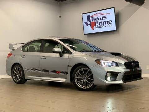 2018 Subaru WRX for sale at Texas Prime Motors in Houston TX