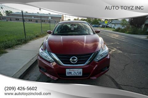 2016 Nissan Altima for sale at Auto Toyz Inc in Lodi CA