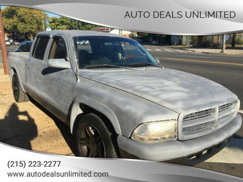 2002 Dodge Dakota for sale at AUTO DEALS UNLIMITED in Philadelphia PA