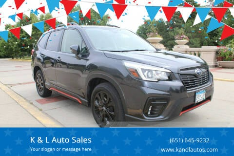 2019 Subaru Forester for sale at K & L Auto Sales in Saint Paul MN