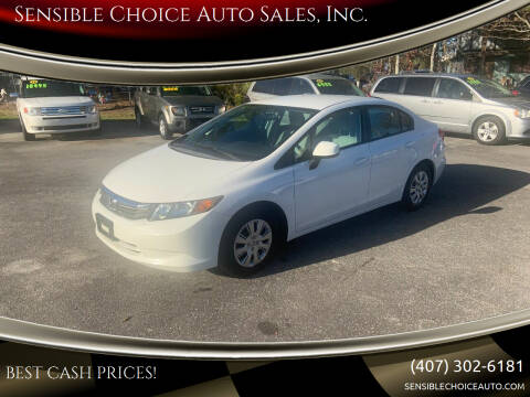 2012 Honda Civic for sale at Sensible Choice Auto Sales, Inc. in Longwood FL