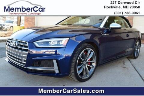 2018 Audi S5 for sale at MemberCar in Rockville MD