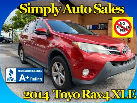 2014 Toyota RAV4 for sale at Simply Auto Sales in Palm Beach Gardens FL