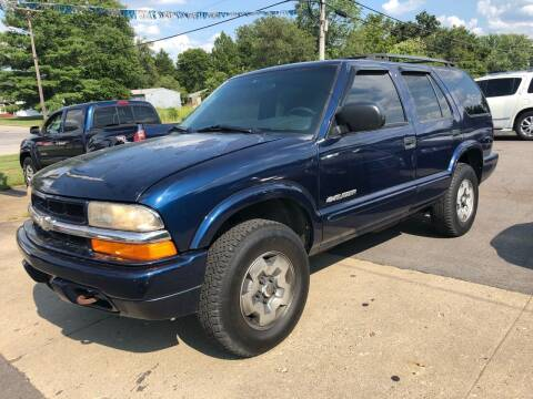 2002 Chevrolet Blazer for sale at Wise Investments Auto Sales in Sellersburg IN