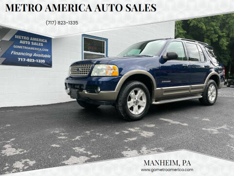 2004 Ford Explorer for sale at METRO AMERICA AUTO SALES of Manheim in Manheim PA