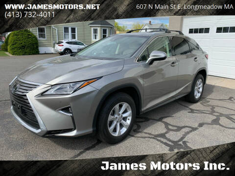 2017 Lexus RX 350 for sale at James Motors Inc. in East Longmeadow MA
