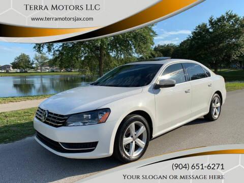 2013 Volkswagen Passat for sale at Terra Motors LLC in Jacksonville FL