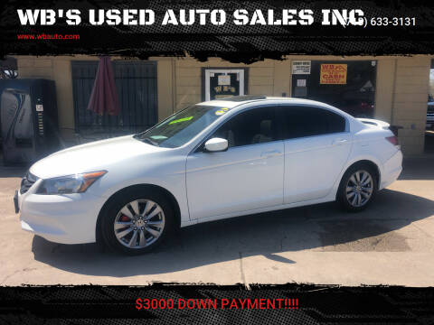 2012 Honda Accord for sale at WB'S USED AUTO SALES INC in Houston TX