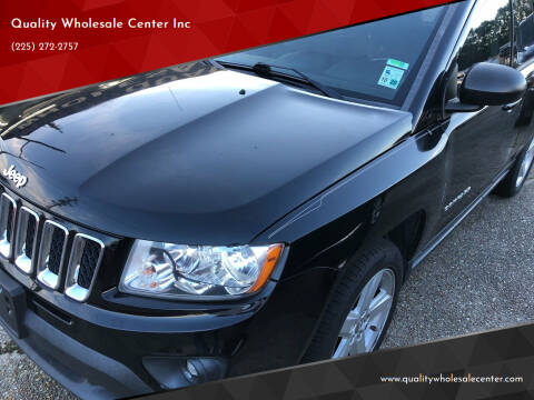 2012 Jeep Compass for sale at Quality Wholesale Center Inc in Baton Rouge LA