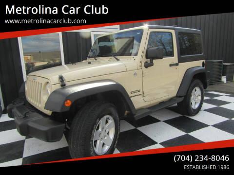 2012 Jeep Wrangler for sale at Metrolina Car Club in Matthews NC