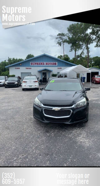 2015 Chevrolet Malibu for sale at Supreme Motors in Tavares FL