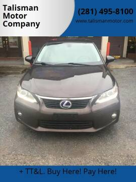 2012 Lexus CT 200h for sale at Talisman Motor Company in Houston TX