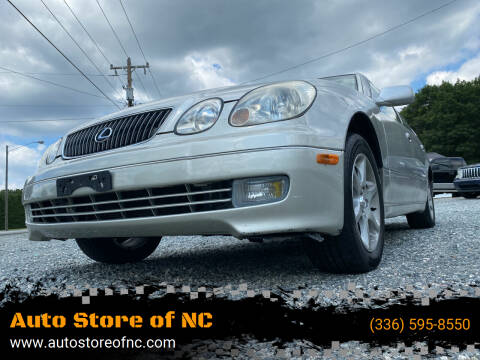 2003 Lexus GS 300 for sale at Auto Store of NC in Walkertown NC
