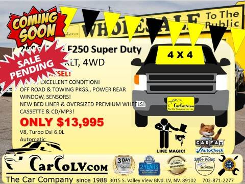 2005 Ford F-250 Super Duty for sale at The Car Company in Las Vegas NV