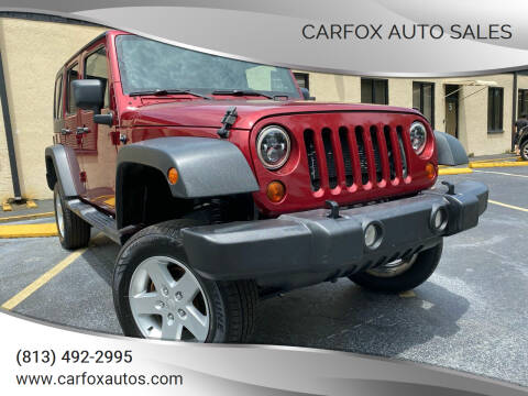 2013 Jeep Wrangler Unlimited for sale at Carfox Auto Sales in Tampa FL