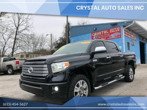 2014 Toyota Tundra for sale at Crystal Auto Sales Inc in Nashville TN