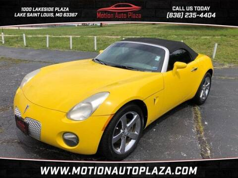 2007 Pontiac Solstice for sale at Motion Auto Plaza in Lakeside MO