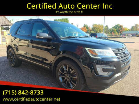 2017 Ford Explorer for sale at Certified Auto Center Inc in Wausau WI