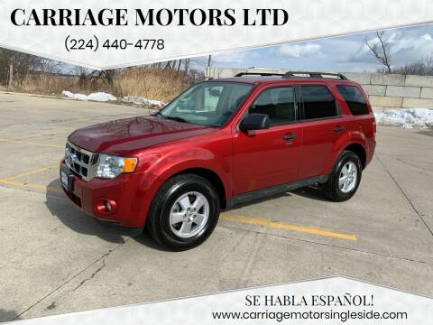 2012 Ford Escape for sale at Carriage Motors LTD in Ingleside IL