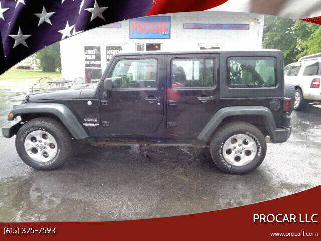 2013 Jeep Wrangler Unlimited for sale at PROCAR LLC in Portland TN